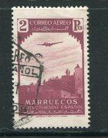 MAROC ESPAGNOL- Poste Aérienne Y&T N°9- Oblitéré - Marocco Spagnolo