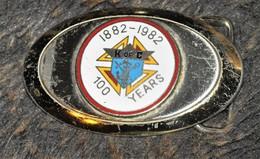 Très Rare Boucle Centième Anniversaire Des K Of C (chevalier De Colombus) 1882-1982 - Religione & Esoterismo