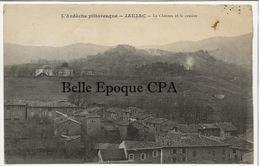 07 - JAUJAC - Le Château Et Le Cratère +++ Édit. Chambon +++ 1928 +++ RARE - Frankreich