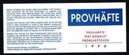 Sverige 1996 Boekje/carnet ** Provhäfte / Test Booklet / Probeheftchen (2 Scans) - Carnets