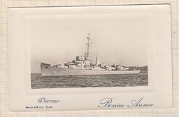 8AK1139 Destroyer D'escorte MAROCAIN (Marine Nationale) - Carte Photo éd. Marius Bar  2 SCANS - Guerre