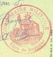FRANCE 1917 Correspondence Hopital De Laressoire Cachet Franchise Postale Commissaire Militaire Gare De Bayonne - Marcofilie (Brieven)