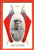 GCE-07 Lord Horatio Herbert Kitchener Ministre Anglais De La Guerre, Avec Union Jack. Not Used - Personnages