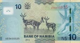 NAMIBIA P. 11a 10 D 2012 UNC - Namibie