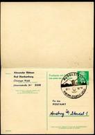 RUDOLSTADT DEDERON-ZELLWOLLE-LANON 1963 Auf DDR P 70 II Postkarte Mit Antwort ZUDRUCK BÖTTNER #1 - Textil