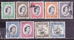 Grenada  1953-Elisabetta-Serie Non Completa Usata - Grenada (...-1974)