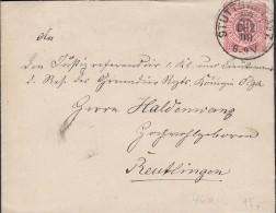 WÜRTTEMBERG 46 A EF, Gestempelt: Stuttgart 7 22.DEZ 1890 Mit Gruß Des Freiherrn Von Schlotheim - Wuerttemberg