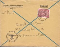 GENERALGOUVERNEMENT D 6 EF, Auf Brief Des Generalgouverneurs, Gestempelt: Krakau 2.10.1940 - Besetzungen 1938-45