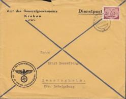 GENERALGOUVERNEMENT D 21 EF, Auf Brief Des Generalgouverneurs, Gestempelt: Krakau 26.VIII.1941 - Besetzungen 1938-45