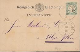 BAYERN P 4 II, Gestempelt: Frankenthal 10.10.1875 - Bayern