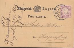 BAYERN 48 EF, Gestempelt: Guenzach 10.MRZ 1887 - Bayern