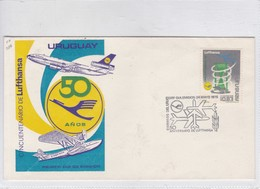 CINCUENTENARIO DE LUFTHANSA. FDC. 1976. URUGUAY.-BLEUP - Uruguay