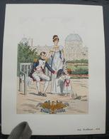 Gravure Pierre Albert LEROUX  Napoleon Bonaparte Aux Tuileries 1812 : - Stampe & Incisioni