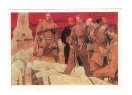 04774 Soviet Russia  Bulgaria Battle Of Shipka Pass Symbolic Art Russian Military Red Cross - Pintura & Cuadros
