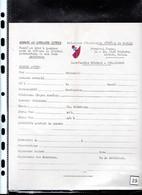 Un Formulaire Pour être Membre Actif  Alsace Et Lorraine Libres  Fondé En 1940 à Londres - Documenti Storici