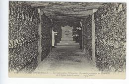 CPA Paris 14 Paris Souterrain Les Catacombes L'Ossuaire Église Saint Laurent - Arrondissement: 14