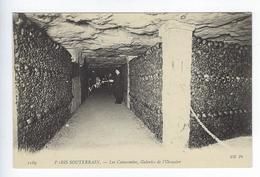 CPA Paris 14 Paris Souterrain Les Catacombes Galeries De L'Ossuaire - Distrito: 14