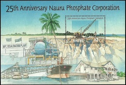 NAURU 1995 MINERALS SHIPS CARS PHOSPHATE MINING SET & M//SHEET MNH - Nauru