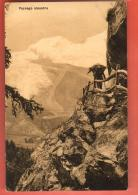 GCE-20  Saas-Fee Paysage Alpestre. Chemin Der Kapelle Glacier De Fee. Nicht Gelaufen. Burgy 4428 - VS Valais