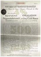 Obligation Ancienne - Première Union De Caisse D Epargne Nationale De Pest - Titre De 1913 - Aandelen