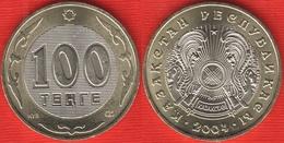 Kazakhstan 100 Tenge 2004 Km#39 BiMetallic UNC - Kazakhstan