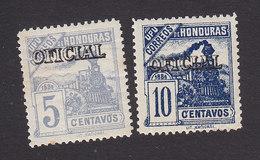 Honduras, Scott #O23-O24, Mint Hinged, Train Overprinted, Issued 1898 - Honduras
