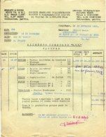 77 MEAUX - SOCIÉTÉ FRANÇAISE D'ALIMENTATION - Facture (et Composition Au Verso) - 1951 - 2 Scans - Meaux