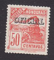 Honduras, Scott #O26, Mint Hinged, Train Overprinted, Issued 1898 - Honduras