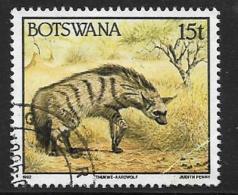Botswana, Scott # 524 Used Aardwolf, 1992, Light Corner Crease - Botswana (1966-...)