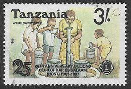 Tanzania SG612 1988 25th Anniversary Of Dar-es-Salaam Lions Club 3/- Good/fine Used [37/30860/2D] - Tanzania (1964-...)