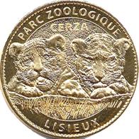 14 HERMIVAL LES VAUX LISIEUX ZOO CERZA N°8 BÉBÉS TIGRES MÉDAILLE ARTHUS BERTRAND 2012 JETON MEDALS TOKEN COINS - 2012