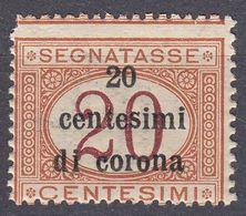 VENEZIA GIULIA, EMISSIONI GENERALI - 1919 - Segnatasse, Unificato 3, Nuovo MNH. - 8. WW I Occupation