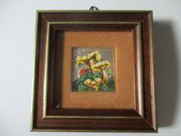 Funghi Su Lamina D'argento. Quadretto 10x10cm - Drawings