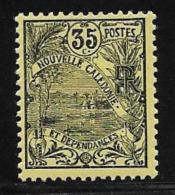 New Caledonia, Scott # 103 Mint Hinged Landscape, 1905 - Neufs