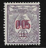 New Caledonia, Scott # 123 Mint Hinged Kagu,surcharged,  1922, Thin - Ongebruikt