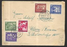 DDR  Lettre Du 10 12 1952 De Erfurt Vers Ulm - DDR