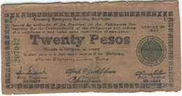 PHILIPPINES Emergency Circulating Note S680 1944 20 Pesos Used - Philippines