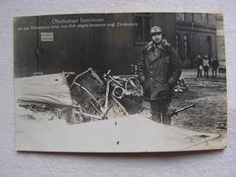 Ww1 Weltkrieg Flieger Pilote Allemand Carte Photo Oberleutnant  Immelmann Devant Un Avion Abattu Par Lui 2 - Guerre 1914-18