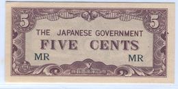 MALAYA Japanese Occupation 1942-1945 M2 5 Cents UNC - Malaysia