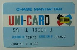 USA - Chase Manhattan - Uni-Card - Credit Card - Pre Visa - Expired Jan 73 - Signed - Used - Geldkarten (Ablauf Min. 10 Jahre)