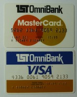 USA - 1st OmniBank - Master Card & Visa Pair- Expired 10/85 - Easy Bank - Signed - VF Used - Geldkarten (Ablauf Min. 10 Jahre)