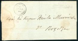 1837 Prephilatelic Cover Patra To Vostitsa (Aigio) To Leon Messinezi Politician + Letter - ...-1861 Prephilately