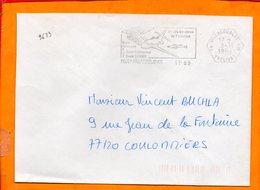 YVELINES, Villacoublay Air, Flamme SCOTEM N° 9633, Base Aérienne 187 - Sellados Mecánicos (Publicitario)