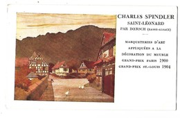 67 ST LEONARD Par BOERSCH  CHARLES SPINDLER EBENISTERIE MARQUETERIE CPA 2 SCANS - France