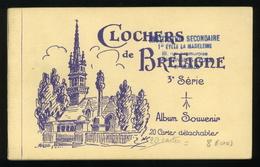 Clochers De Bretagne 3e Série Hamonis Carnet Complet De 20 CPA - Bretagne