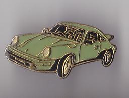 PIN'S   THEME AUTOMOBILE  PORSCHE  VERTE - Porsche