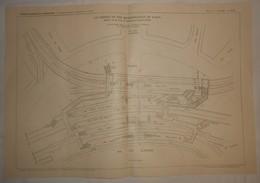 Plan Du Chemin De Fer Métropolitain De Paris. Ligne N°6 Du Cours De Vincennes à La Place D'Italie. 1910. - Public Works