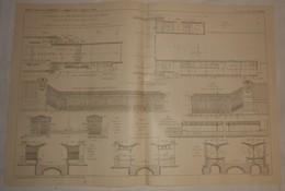 Plan Du Chemin De Fer Métropolitain De Paris. Ligne N°6 Du Cours De Vincennes à La Place De La Nation. 1910. - Travaux Publics