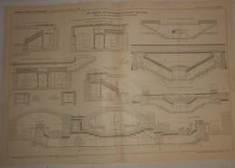 Plan Du Chemin De Fer Métropolitain De Paris. Ligne N°6 Du Cours De Vincennes à La Place D'Italie. 1910. - Travaux Publics