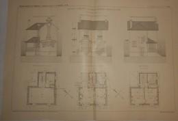 Plan D'un Cottage à Brunoy Les Beausserons En Seine Et Oise. M. Léon Léger, Architecte. 1910. - Public Works